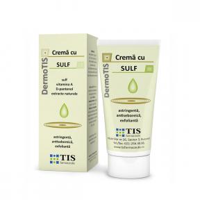 DermoTis crema cu sulf, 50ml, TIS