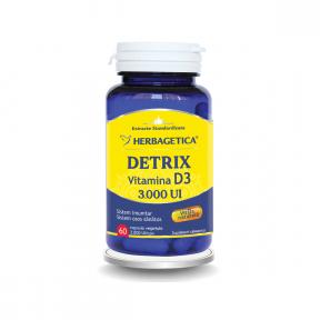 Detrix Vitamina D3 3000 UI, 60 capsule, Herbagetica