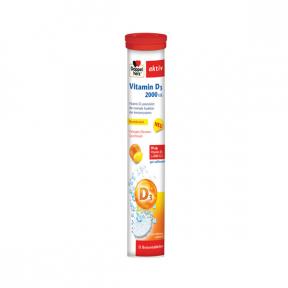 Doppelherz Aktiv Vitamina D3 2000 UI, 15 comprimate fervescente, Doppelherz