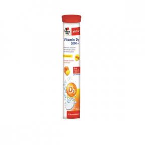 Vitamina D3 2000ui, 15 comprimate efervescente, Doppelherz
