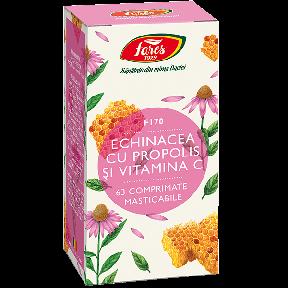Echinacea cu Propolis și Vitamina C, 63 comprimate, Fares