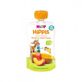 Hippis - piure din piersica, mar si mango, BIO, 12+ luni, 100g, HIPP