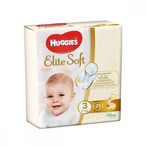 Elite Soft , (3), 21buc (5-9Kg), HUGGIES