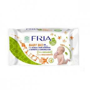 Fria baby BIO pentru piele sensibila certificat ECO BIO  Comesi ,64buc