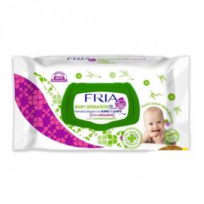 Fria baby servetele umede cu efect emolient si anti iritatie 75buc ,sistem de inchidere