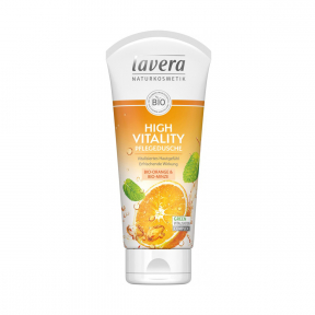 Gel de dus High Vitality cu portocale si menta, 200ml, Lavera