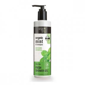 Gel de dus bio cu menta si lemongrass, Minty Rain - Organic Shop
