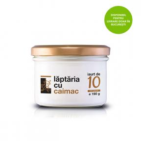 Iaurt de 10, 190g,  Laptaria cu Caimac