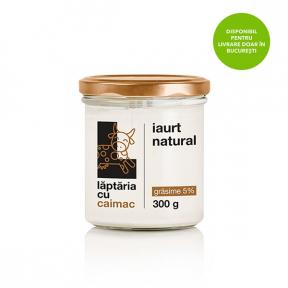 Iaurt natural 5%, 300g, Laptaria cu Caimac