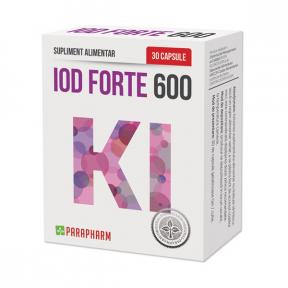 Iod Forte 600, 30 capsule, Parapharm