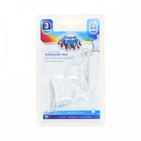 Tetina ortodontica de silicon flux mare, 2 bucati, 18/127, Canpol Babies