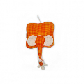 Jucarie textila din bumbac organic Elly Orange, Keptin Jr