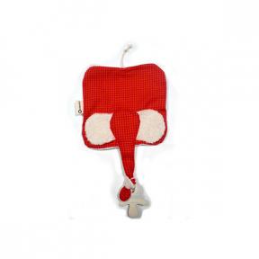 Jucarie textila din bumbac organic -Elly Red, Keptin Jr