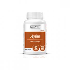 L-Lysine, 550mg, 60 capsule, Zenyth
