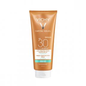 Lapte hidratant CAPITAL SOLEIL pentru fata si corp SPF30+, 300ml, Vichy