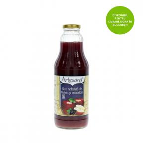 Suc natural de mere si coacaze, 0.3l, Artesana