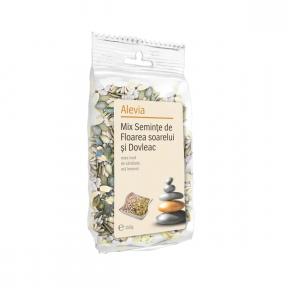 Mix seminte de floarea soarelui si dovleac, 150g, Alevia