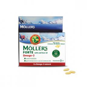 Omega 3 Forte, 150 capsule, Moller's