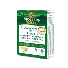 Moller's Total, 14 capsule + 14 comprimate, Moller's