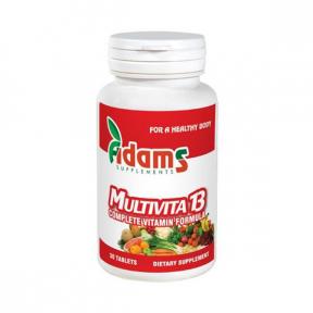 Multivita 13, 30 tablete, Adams Vision