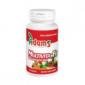Multivita+Fe, 30 tablete, Adams Vision