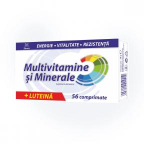 Multivitamine+Multiminerale cu luteina, 56 comprimate, Zdrovit