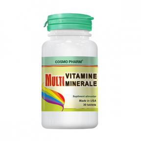 Multivitamine si multiminerale, 30 tablete, COSMO PHARM