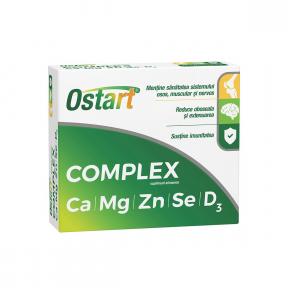 Ostart Complex Ca+Mg+Zn+Se+D3, 20 comprimate, Fiterman Pharma