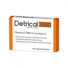 Detrical D3 2000 UI, 60 comprimate, Zdrovit