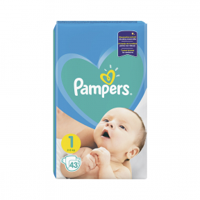 Pampers 1 New Baby 2-5kg, 43buc