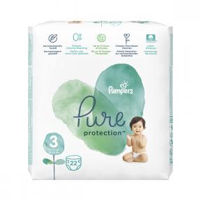 Scutece Pure Protection masura 3 pentru 6-10kg, 22 bucati, Pampers