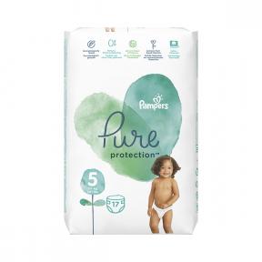 Scutece Pure Protection marimea 5 pentru 11 kg+, 17 bucati, Pampers