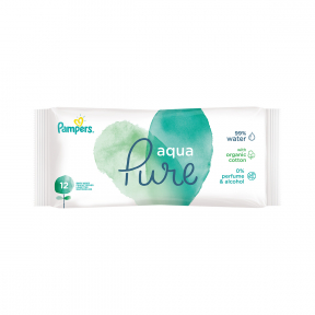 Servetele umede, Aqua Pure, 12 buc, Pampers