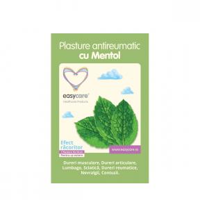 Plasture antireumatic cu mentol 12x18cm, 1buc, Easycare