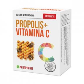 Propolis + Vitamina C, 30 tablete, Parapharm