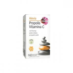 Propolis vitamina C cu echinacea, cu stevie, 40 capsule, Alevia