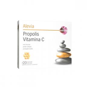 Propolis vitamina C cu echinacea, 20 capsule, Alevia