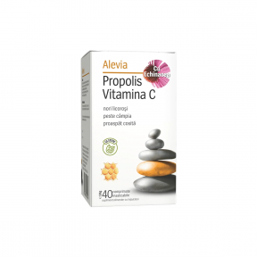 Propolis vitamina C cu echinacea, masticabile, 40 capsule, Alevia