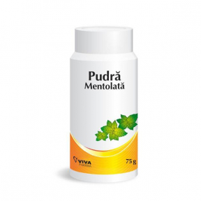Pudra mentolata, 75g, Viva Pharm
