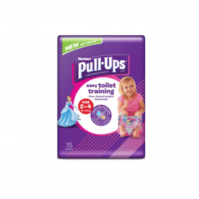 Pull ups, Chilotei tranzitie, fetite, 2-4 ani (18-23Kg), HUGGIES