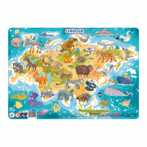 Puzzle cu rama, Europa si Asia (53 piese), Dodo