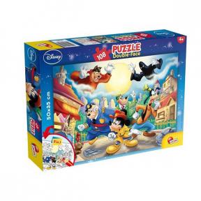 Puzzle de colorat - Mickey detectivul (108 piese) Lisciani