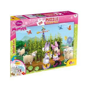 Puzzle de colorat - Minnie si Daisy in gradina (108 piese) Lisciani