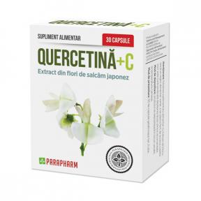 Quercetina + C, 30 capsule, Parapharm