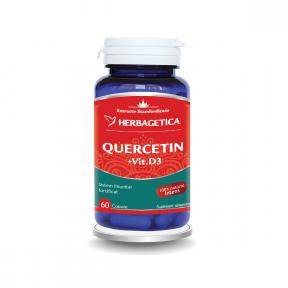 Quercetin + vitamina D3, 60 capsule, Herbagetica
