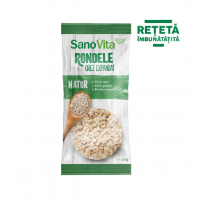 Rondele simple din orez, 56g, SanoVita