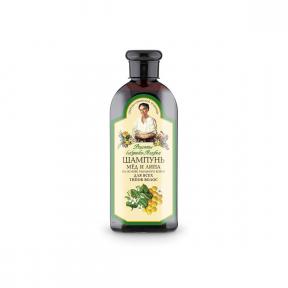 Sampon nutritiv cu extract de tei pentru toate tipurile de par, 350ml, Bunica Agafia