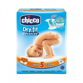 Scutece Dry Fit Advanced Junior, nr.5, 12-25kg, 17buc., Chicco
