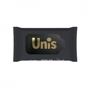 Servetele umede antibacteriene parfumate, Negru, 15buc, Unis