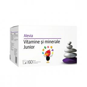 Vitamine si minerale, Junior, solubile, 60plicuri, Alevia